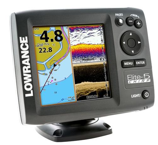 Echolotas Lowrance Elite-5 Chirp 11655-006 GPS