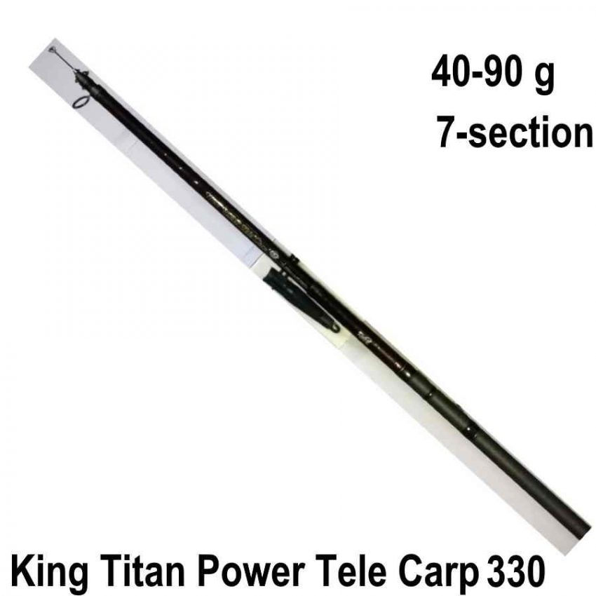King Titan Power Tele Carp 330 meškerė