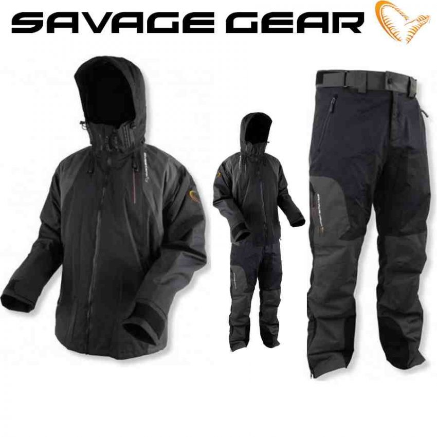 SavageGear Black Savage kelnės ir striukė
