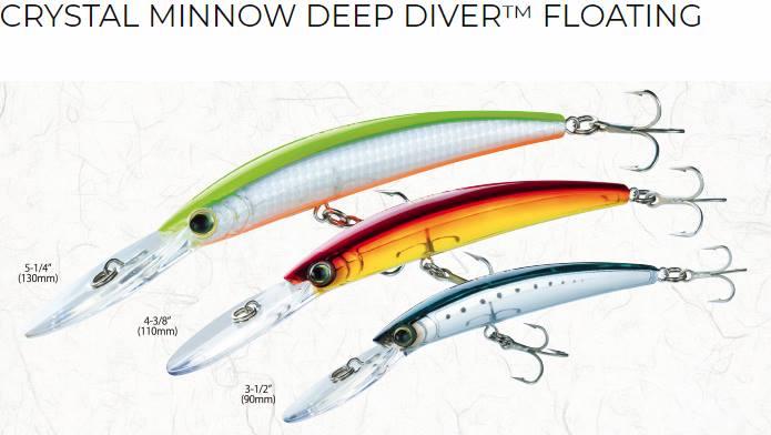 Yo-zuri Crystal Minnow Deep Diver vobleris