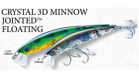 Yo-Zuri Crystal 3D minnow Jointed floating vobleris