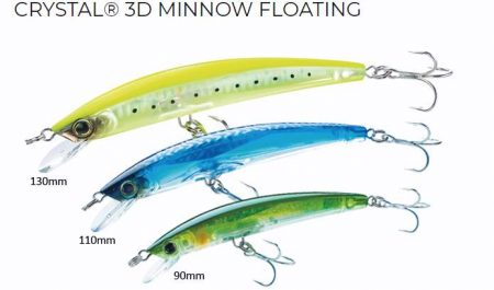 Yo-Zuri Crystal 3D minnow floating vobleris