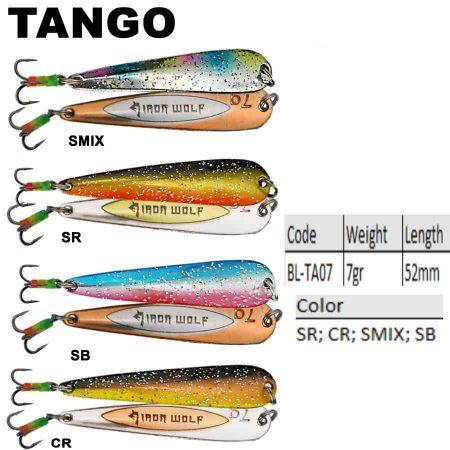 Žieminė blizgutė Tango Iron Wolf 5,2 cm - 7g