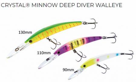Yo-zuri Crystal Minnow Deep Diver (F) vobleris