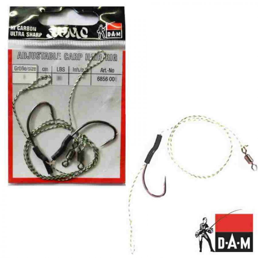 DAM Adjustable Carp Hair Rig karpiniai pavadėliai