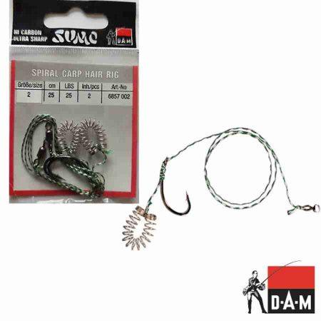 DAM Spiral Carp Hair Rig karpiniai pavadėliai