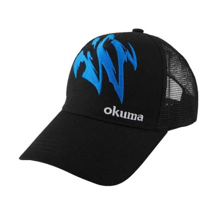 Kepurė Okuma Black Motif Trucker