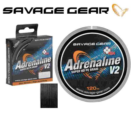 Pintas Valas SavageGear Adrenaline V2 HD4 Braid 120m